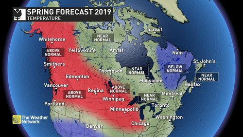 Temperatures Map (CNW Group/The Weather Network)