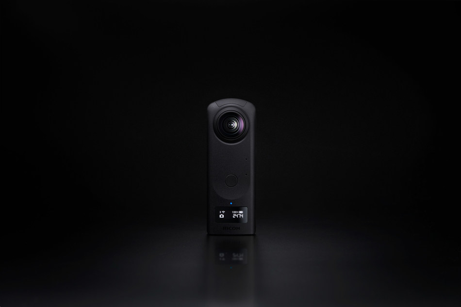 A camera that can shoot 360-degree spherical images in a single shot