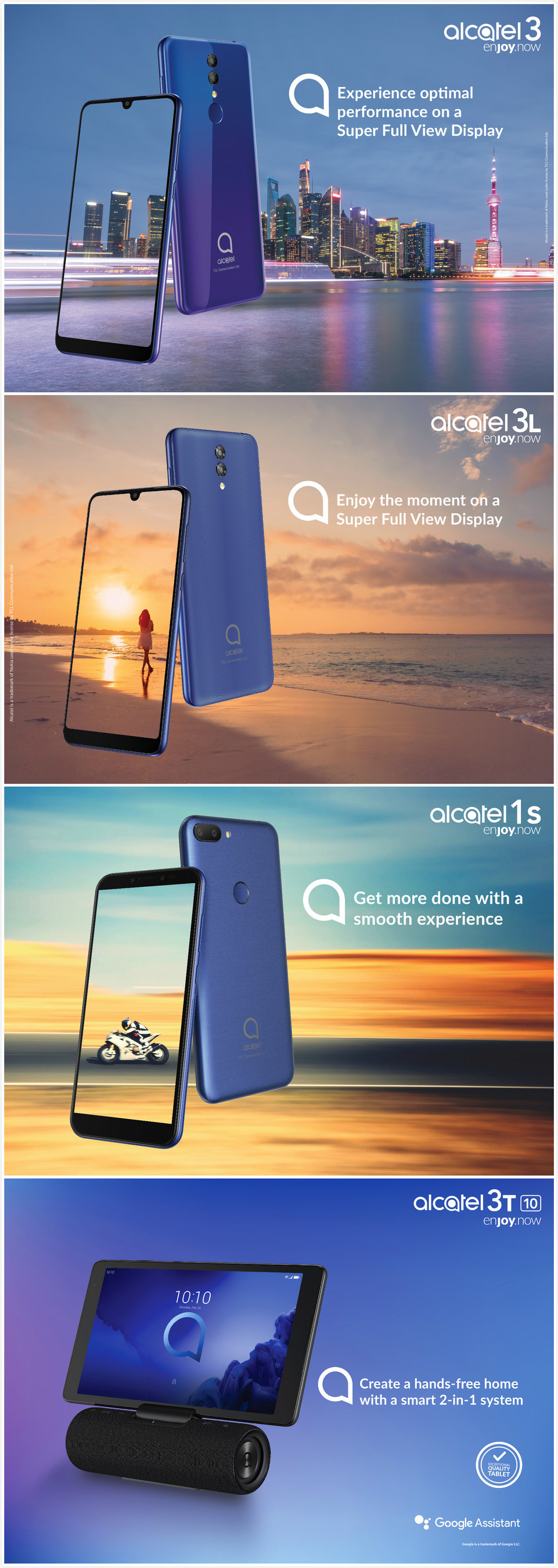 TCL Communication unveils its latest Alcatel 3 and 1 Series
