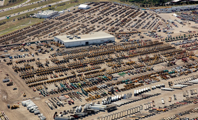 A sea of equipment stretched over the 220-acre Ritchie Bros. auction site in Orlando, FL last week as the company hosted its largest auction ever--13,350+ items sold for US$297+ million (CNW Group/Ritchie Bros. Auctioneers)