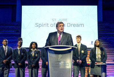 City of Memphis Mayor Jim Strickland accepted the St. Jude Spirit of the Dream award with the Memphis Youth City Council on behalf of the city of Memphis for its dedication to the mission of St. Jude Children's Research Hospital.