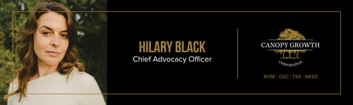 Canopy Growth Names Cannabis Trailblazer Hilary Black as Chief Advocacy Officer (CNW Group/Canopy Growth Corporation)