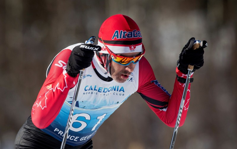 Brian McKeever won a gold medal at the 2019 World Para Nordic Skiing Championships, with guide Graham Nishikawa. PHOTO: Canadian Paralympic Committee (CNW Group/Canadian Paralympic Committee (Sponsorships))