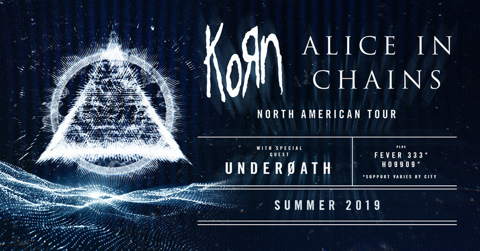 KORN And ALICE IN CHAINS Announce Summer Co-Headline Amphitheater Tour With Special Guest Underoath