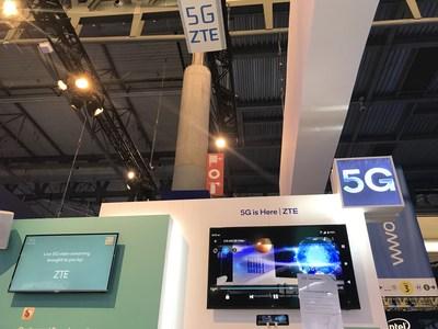 ZTE e Qualcomm Technologies demonstram serviços 5G ao vivo com base em equipamento 5G comercial ponto a ponto (PRNewsfoto/ZTE Corporation)