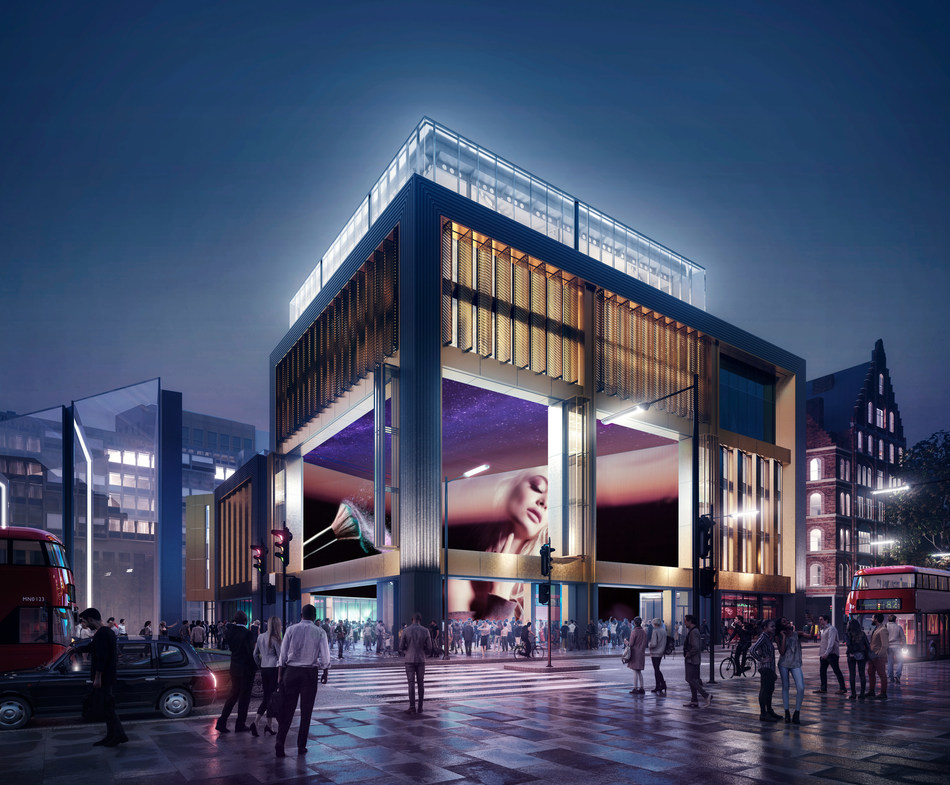 A visualisation of The Outernet London set to open opposite Tottenham Court Road station in 2020. (PRNewsfoto/The Outernet)