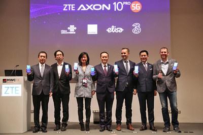 A ZTE anuncia o primeiro smartphone emblemático 5G no MWC 2019 (PRNewsfoto/ZTE Corporation)