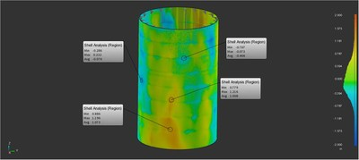 FARO BuildIT Construction 2019 now features a complete Tank Analysis package to determine deviations, calculate real volumes and quickly detect critical issues on-site at the plant.
