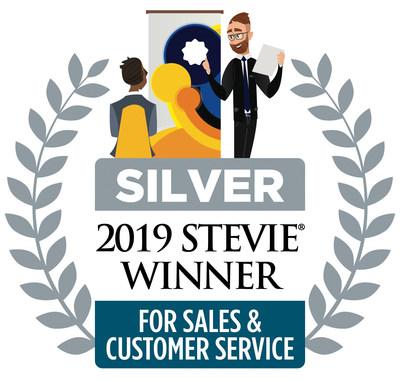 2019 Silver Stevie Winner for Sales & Customer Service