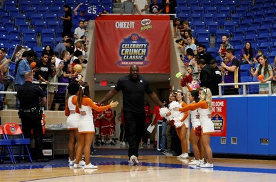 Shaquille O'Neal returns to coach in the Celebrity Crunch Classic game on April 7 in Minneapolis.