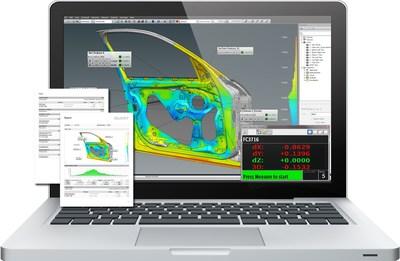 FARO BuildIT Metrology 2019 realiza inspeções em peças e montagens, que incluem análise de desvio de cor de CAD a Peça.