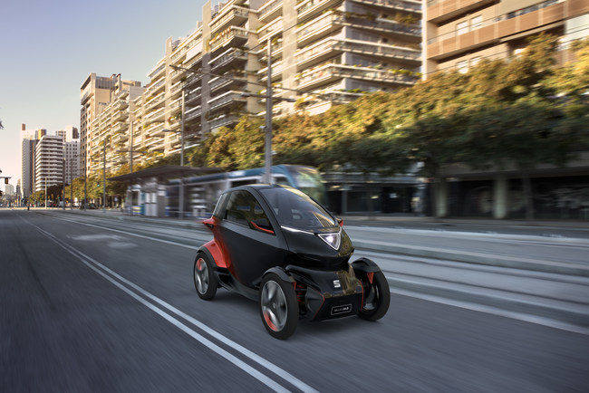 SEAT's new concept car Minimó - a vision of the future of urban mobility. Image credit: SEAT