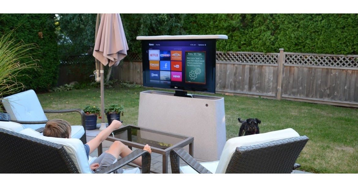 Firgelli Automations Launches First Ever Outdoor Tv Lift Cabinet For Hospitality And Recreational Markets