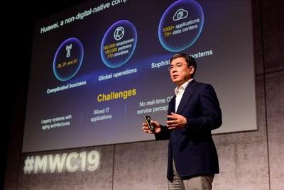 O presidente da Huawei Enterprise Business Group, Yan Lida, apresentou o poder de integração da Plataforma Digital da Huawei. (PRNewsfoto/Huawei)