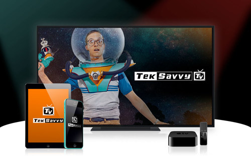 TekSavvy TV is the television that you know and love but different, in a good and amazing way. With over 115 HD channels, you can watch your favourite series, movies, teams and cartoons on your TV or mobile device by downloading the TekSavvy TV app on your device's app store. (CNW Group/TekSavvy Solutions Inc.)