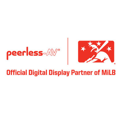 "Minor League Baseball™ (MiLB™) today announced that Peerless-AV® — a leading manufacturer and provider of audio-visual products — will be the ""Official Digital Display Partner of MiLB."""