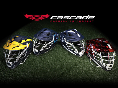 New Cascade lacrosse custom partner team S helmets. The S incorporates several new, game-changing helmet technologies, including a new Tri-liner™ impact management system that is integrated with the shell, new Xflo™ ventilation that more than doubles the breathability of previous helmet models and a new Vision Bar™ facemask that ensure the ball is never out of sight. The S is the safest helmet Cascade has ever made.