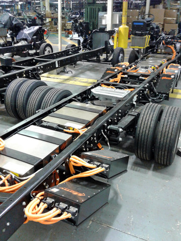 As a Ford eQVM certified producer, Motiv worked with Detroit Custom Chassis to optimize production requirements of the electric EPIC chassis to enable it to seamlessly slot into the same assembly lines producing internal combustion engine-powered chassis.