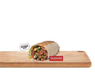 Quesada Burritos & Tacos partners with plant-based protein leader, Beyond Meat®, to launch Canada's first Beyond Meat Burrito available nationally starting Feb. 27th. (CNW Group/Quesada Burritos & Tacos)