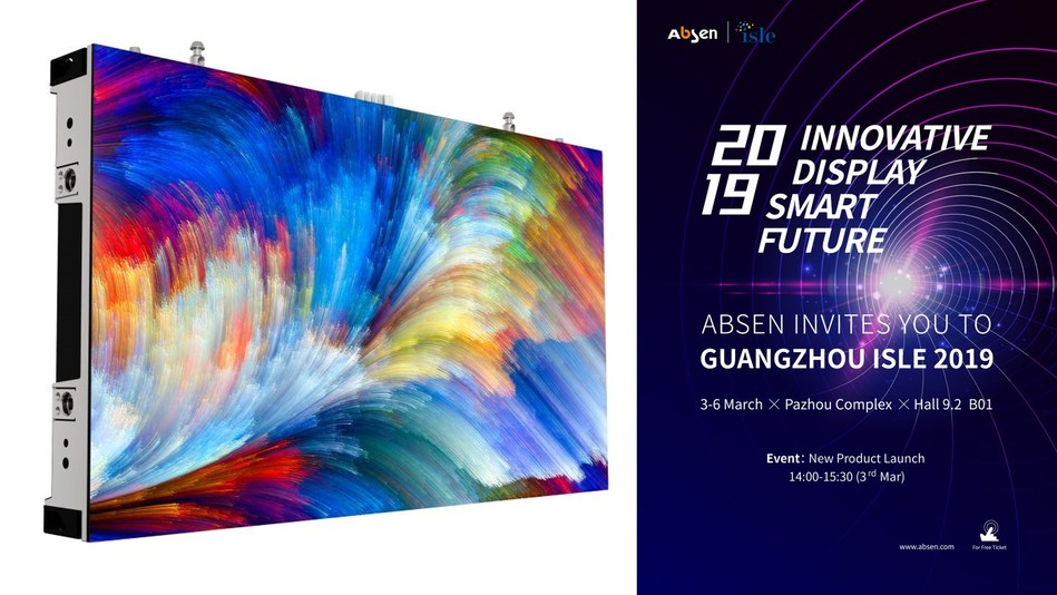 Absen to Launch Latest Narrow Pixel LED Solutions at ISLE 2019