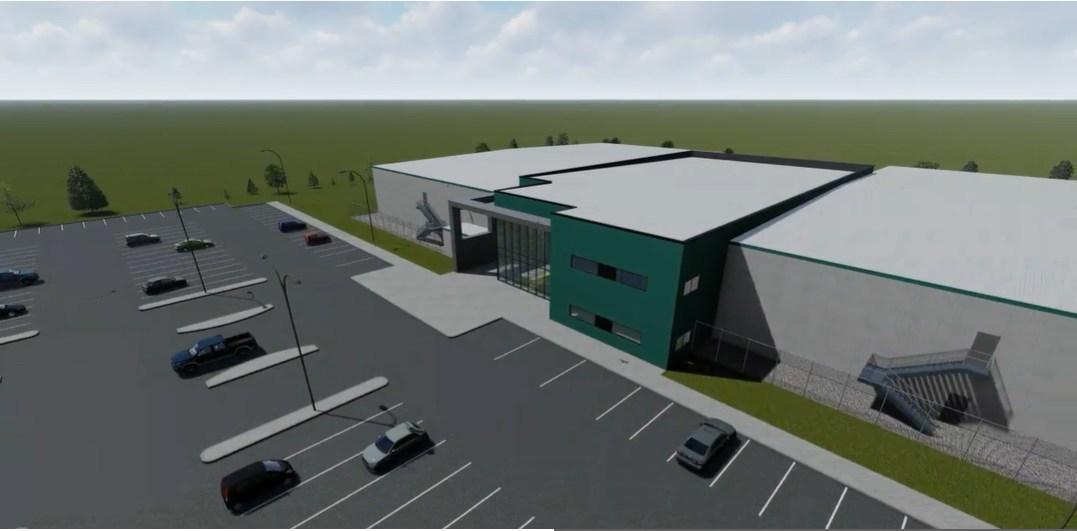 Artist's rendering of Thunderchild by Westleaf Cannabis, indoor cultivation facility near Battleford, Saskatchewan (CNW Group/Westleaf Inc.)