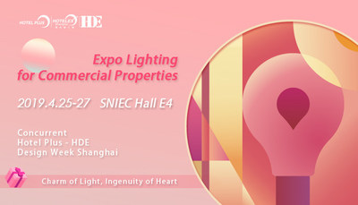 Expo Lighting for Commercial Properties, as the featured sub-event of Hotel Plus - HDE, will be held from 25 to 27 April 2019 at SNIEC in Shanghai.