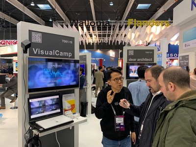 VisualCamp revealed a demo of its new smartphone advertising gaze analytic solution at MWC 2019.