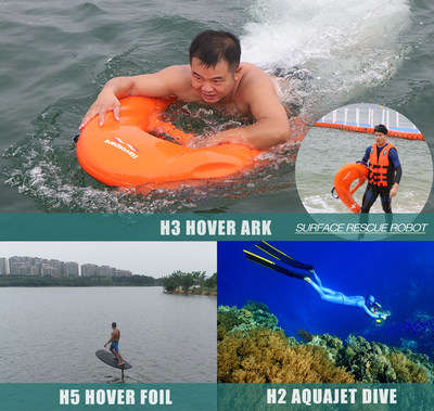 Hoverstar Flight Technology's Latest Water Sport and Rescue Devices, H3 Hover Ark and H5 Hover Foil, are Now Available for Order