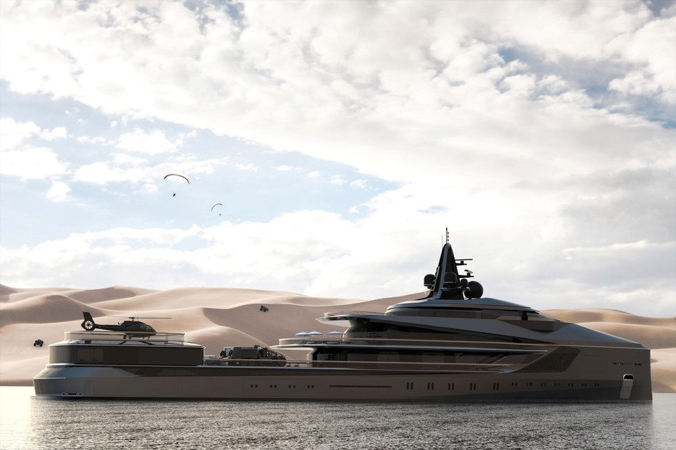 Oceanco Unveils Esquel - A 105-Meter Expedition Yacht During the Dubai International Boat Show 2019