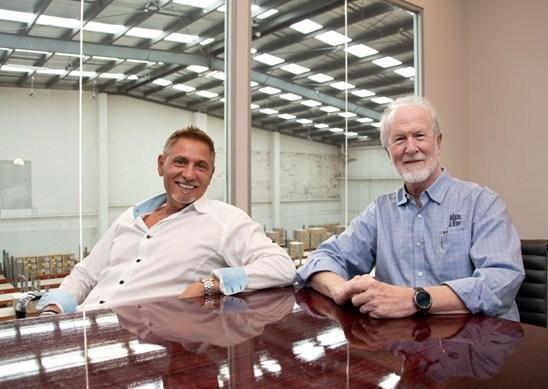 Excite Founder Gerrard Giummarra and Adam & Eve New Business Manager Bob Christian