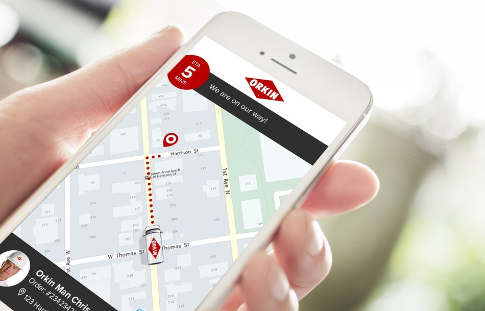 Orkin live map experience powered by Glympse
