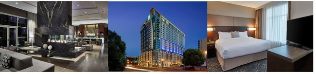 This Nashville hotel represents the first time that Marriott International has opened a newly built hotel containing three of its brands.