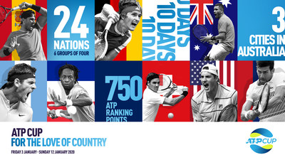 The ATP Cup will bring together more than 60 of the world's best players from 24 nations for an annual team event – with up to 750 ATP ranking points and USD$15 million prize money at stake.