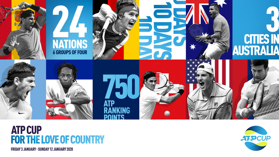 The ATP Cup will bring together more than 60 of the world's best players from 24 nations for an annual team event – with up to 750 ATP ranking points and USD$15 million prize money at stake. (PRNewsfoto/ATP and ATP Media)