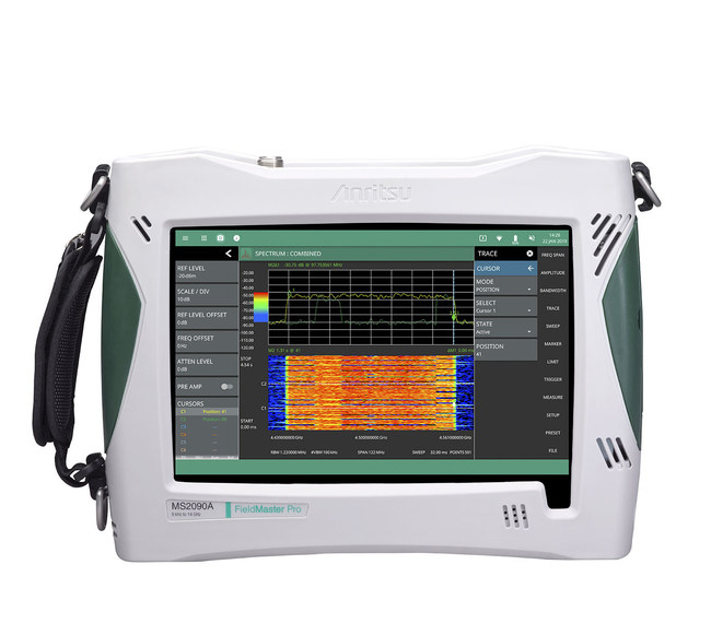 Anritsu Company once again revolutionizes the wireless field test solution market with the introduction of the Field Master Pro MS2090A RF handheld spectrum analyzer.