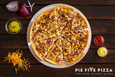 Pie Five launches Double Cheeseburger Pizza available March 5-April 14