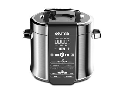 With the speed of a pressure cooker and the crispy, healthy results of an air fryer, Gourmia has merged two of the most popular cooking methods into one appliance.