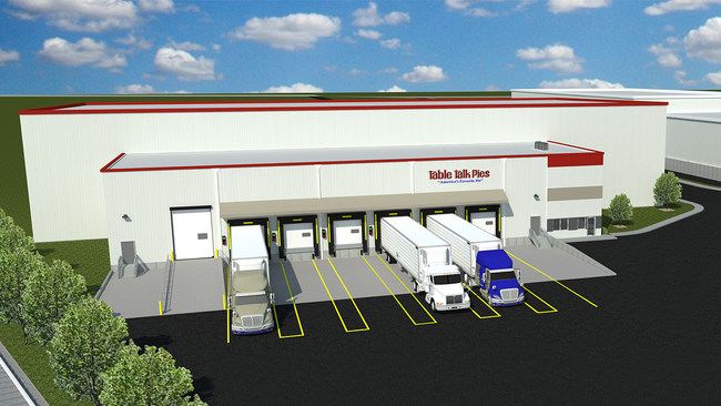 Rendering of new freezer warehouse in Worcester, MA.