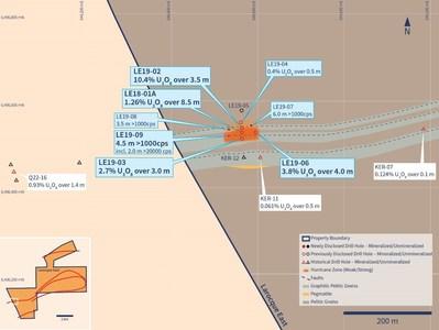 Figure 2 –Hurricane Zone Detailed Planview (CNW Group/IsoEnergy Ltd.)