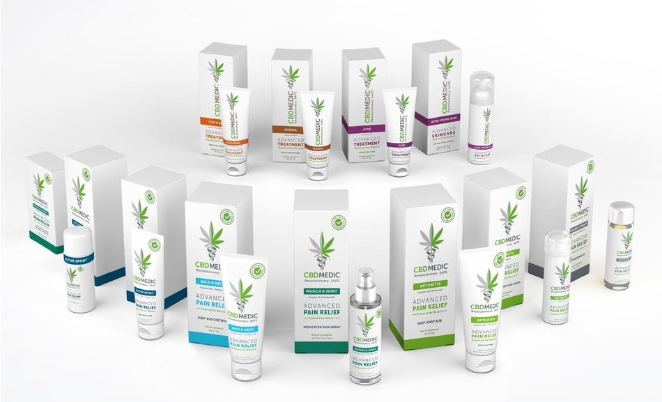 CBDMEDIC Family of Pain Relief and Skincare Products, February 2019 (CNW Group/Abacus Health Products)