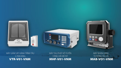These are 3 marine communication solution products of Viettel: S-Tracking, HF, AIS (images from left to right)