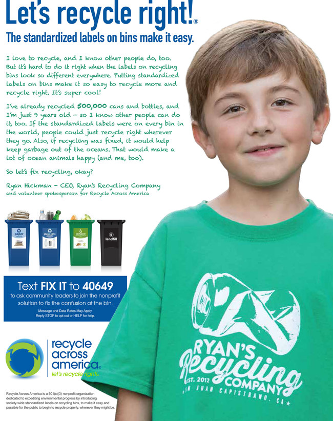 Ryan Hickman is a global recycling superhero, swooping in to save U.S. recycling from collapse!