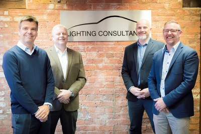 SRG Global and The Lighting Consultants form strategic partnership to produce leading-edge lighting and smart surface solutions. Pictured L-R: From SRG Global: Jose Miguel Ivorra, Regional Director, Europe and David Dunford, Vice President, Engineering, Tooling and Innovation, and from The Lighting Consultants: Chris Turton, Business Development Director and Chris Eardley, Founder and Company Director.