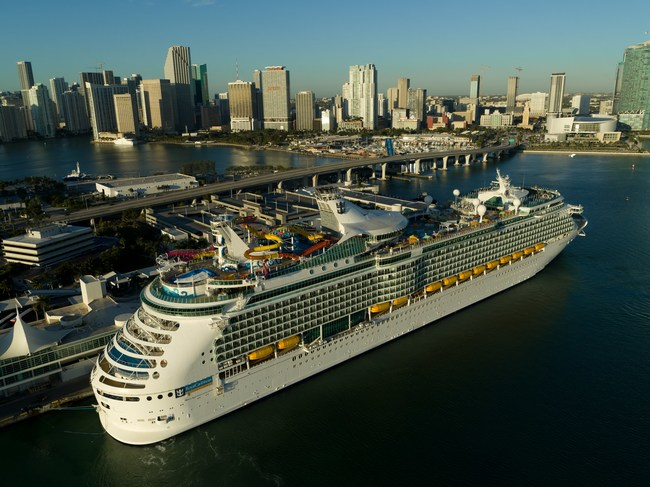 Following a major $115 million amplification, Navigator of the Seas arrives into her new homeport in Miami, FL. The action-packed ship will sail to the Caribbean beginning Friday, March 1, 2019.
