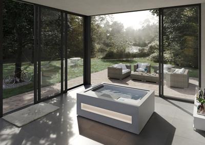 Home Spa, the most attractive minimalist hydromassage hot tub right now. (PRNewsfoto/Aquavia)