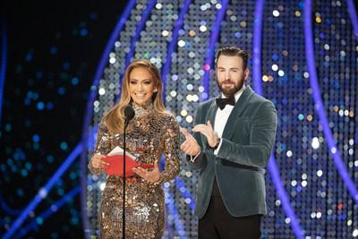 Jennifer Lopez & Chris Evans credit Craig Sjodin via Getty