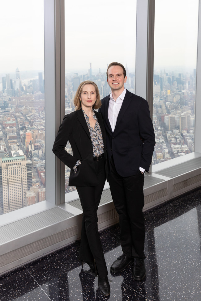 Wendy Whelan and Jonathan Stafford at One World Observatory in New York City. Courtesy of New York City Ballet.