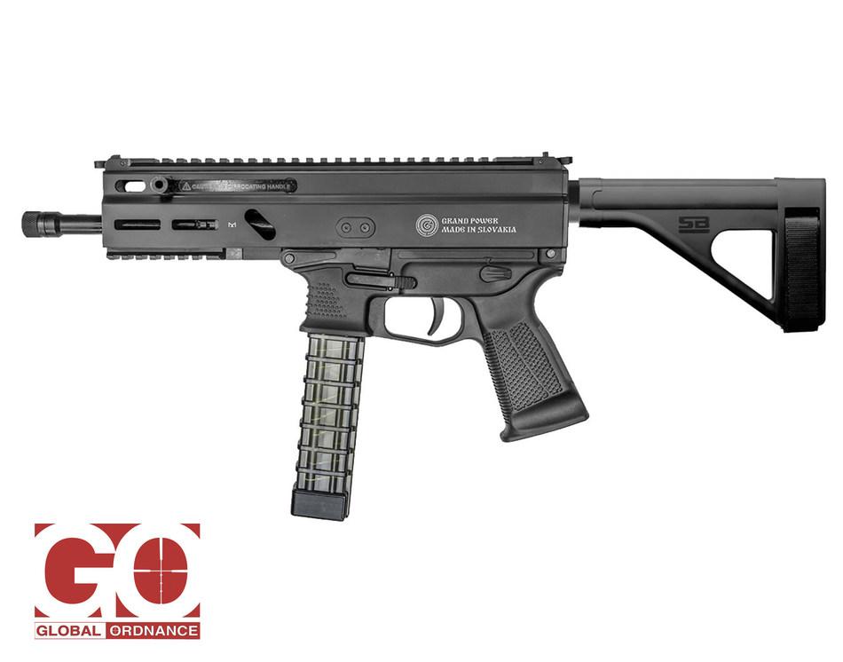 The Stribog 9mm Pistol with aftermarket pistol brace