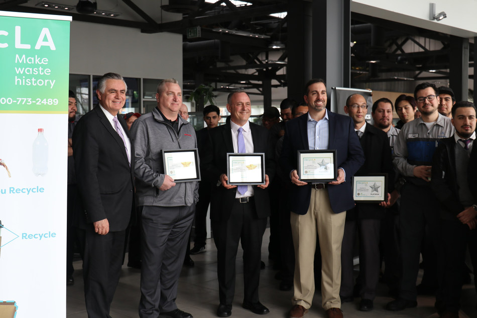 """City of Los Angeles and Bureau of Sanitation Honor Downtown LA Auto Group As RecycLA """"Star"""""""