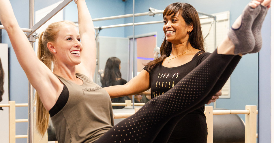 A member enjoys a Private Training session at Club Pilates. Each of the 500 Club Pilates locations across the US and Canada offers both Private Training and reformer-based Pilates classes.